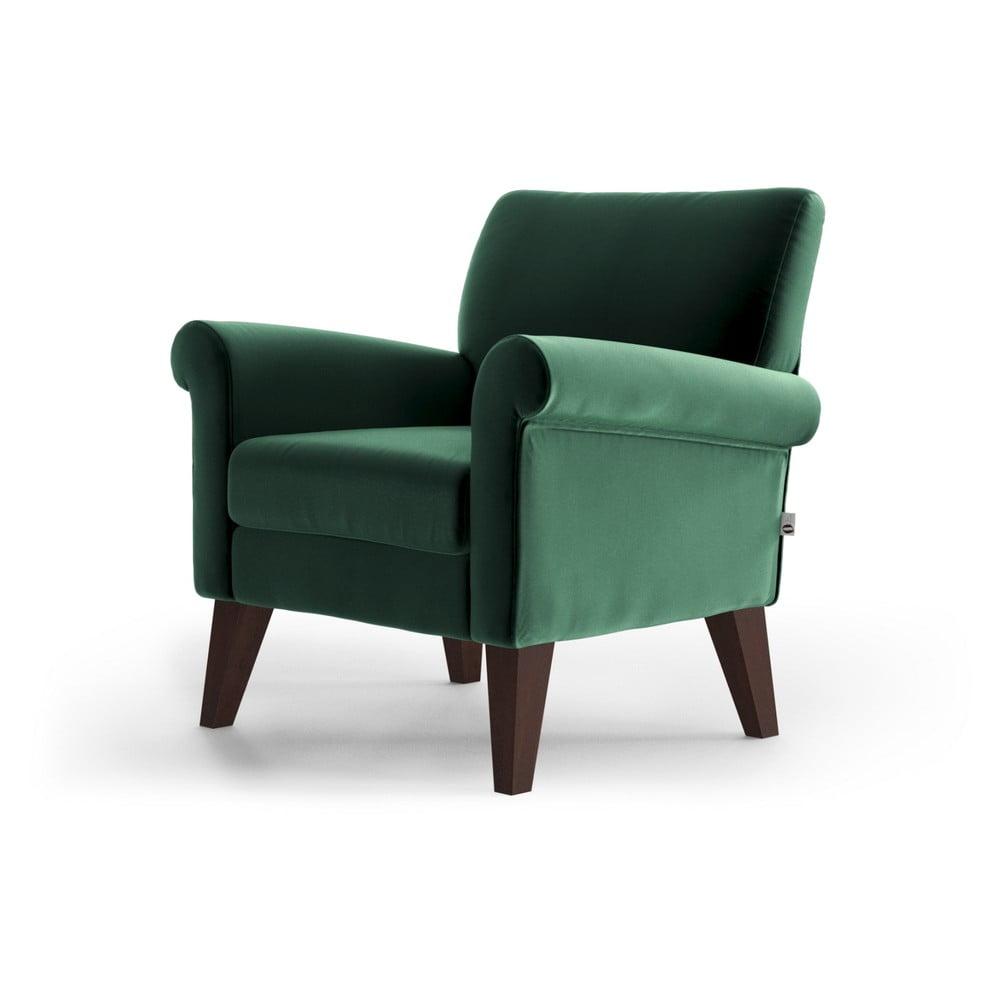 Zielony aksamitny fotel My Pop Design Iena