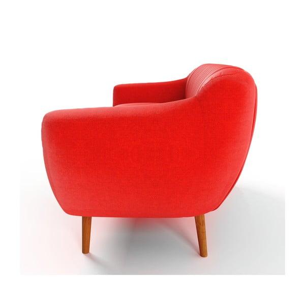 Pomarańczowa   sofa trzyosobowa Wintech Azzurre
