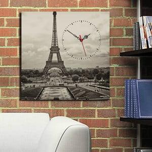 Obraz z zegarem Wieża Eiffla