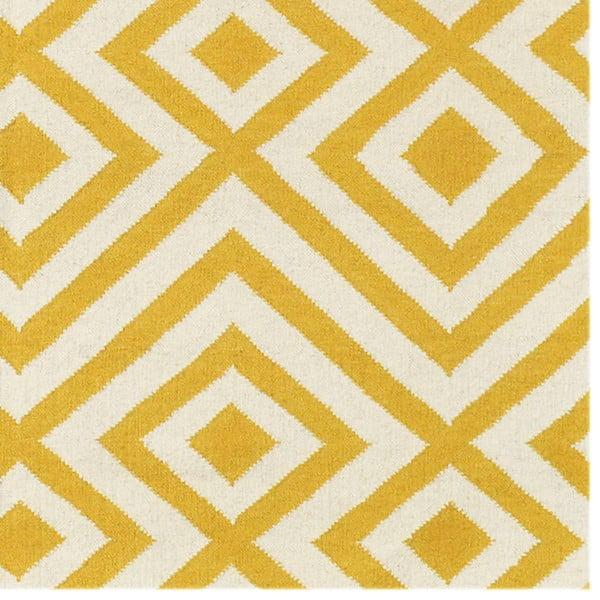 Dywan wełniany Luisa Yellow, 180x120 cm