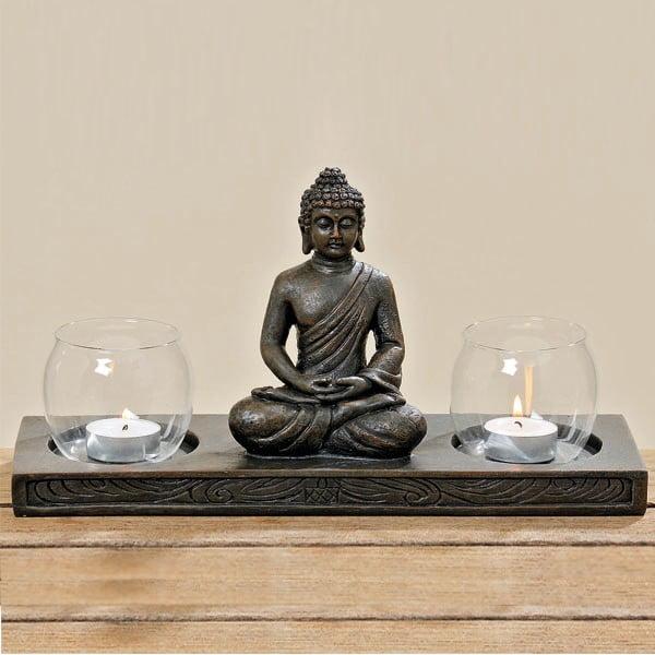 Świecznik Boltze Buddha