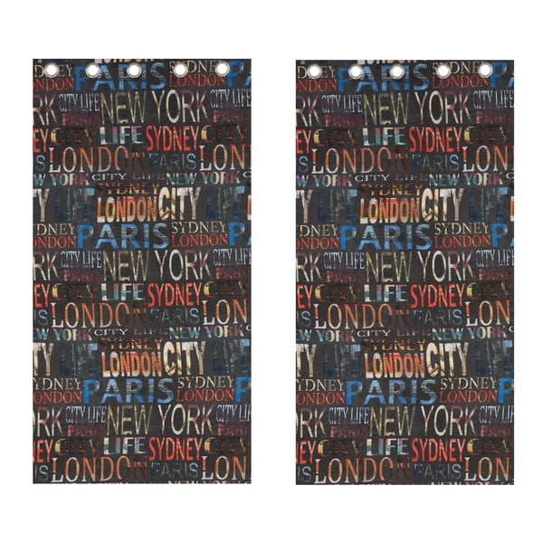 Zasłona City Life, 168x183 cm