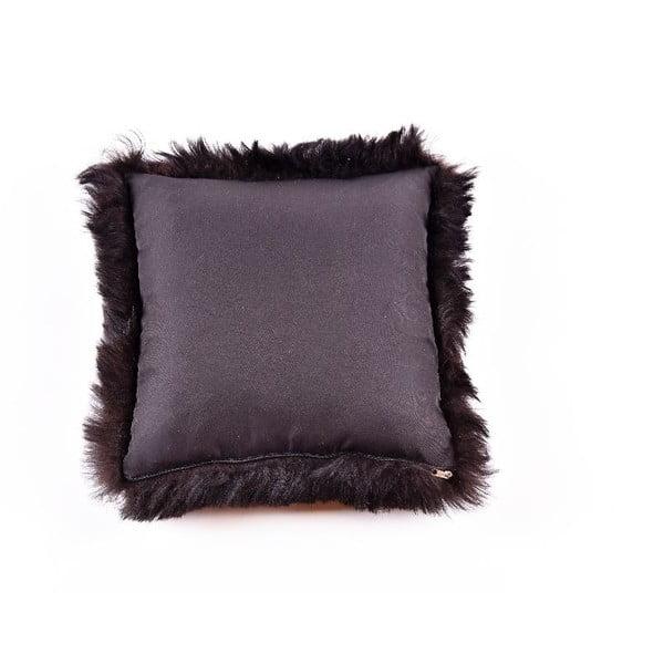 Poduszka futrzana z krótkim włosiem Blacky, 35x35 cm