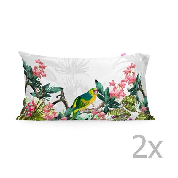Zestaw 2 poszewek na poduszki Tropic printed, 50x80 cm