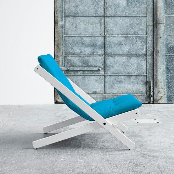 Fotel składany Karup Boogie White/Horizon Blue