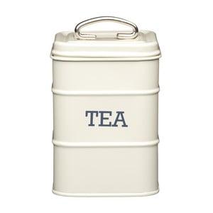 Kremowy pojemnik  metalowy Kitchen Craft Tea