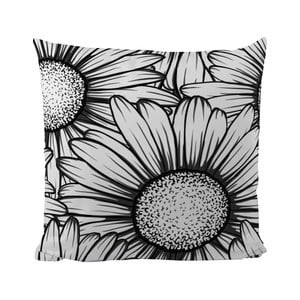 Poduszka Black Shake Sun Flower, 50x50 cm
