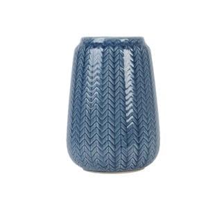 Średni niebieski wazon Present Time Knitted