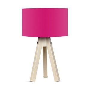 Lampa stołowa z różowym abażurem Kate Louise Naturel