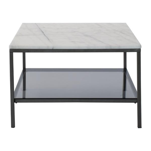 Marmurowy stolik z szarą konstrukcją RGE Ascot, 75x75cm