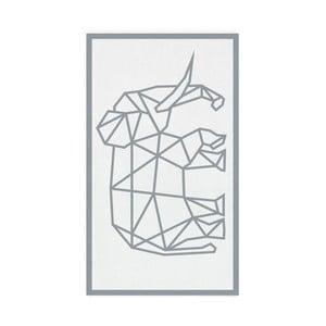 Szary ręcznik kąpielowy Hawke&Thorn Elephan, 90x160 cm