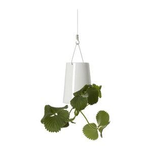Ceramiczna latająca doniczka Sky Planter, mini, biała