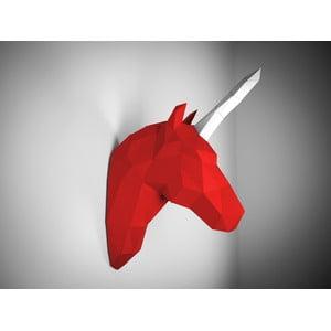 Papierowe poroże Jednorożec, czerwone
