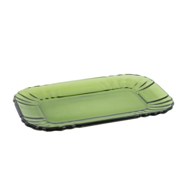 Szklany talerzyk Kaleidos, zielony