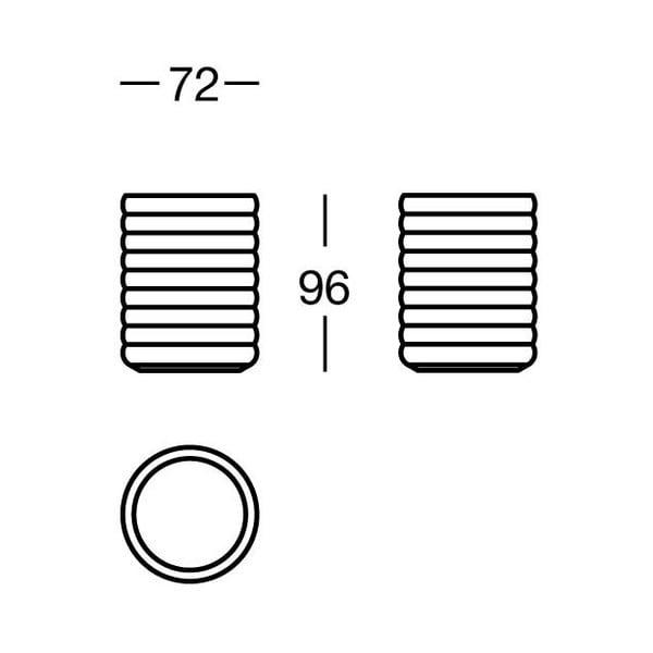Pojemnik Biancopaco, 7x9x7 cm