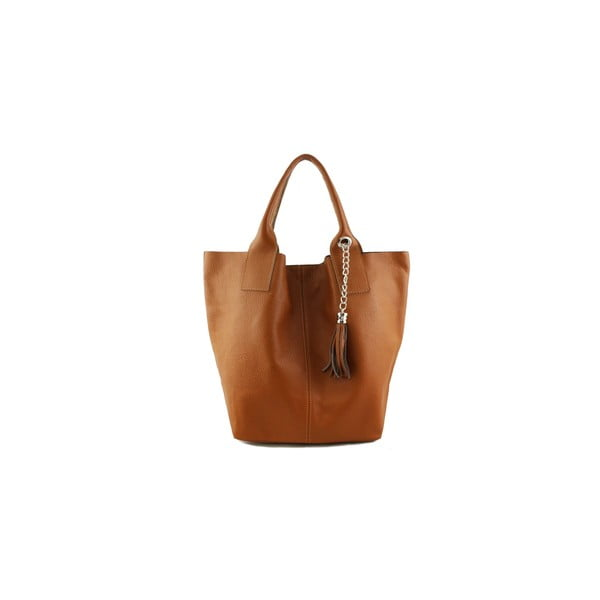 Skórzana torebka Fangi Cognac