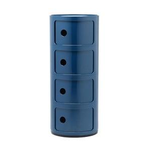 Niebieska szafka z 4 szufladami Kartell Componibili