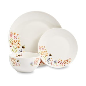 12-częściowy komplet naczyń stołowych Cooksmart England Flowers