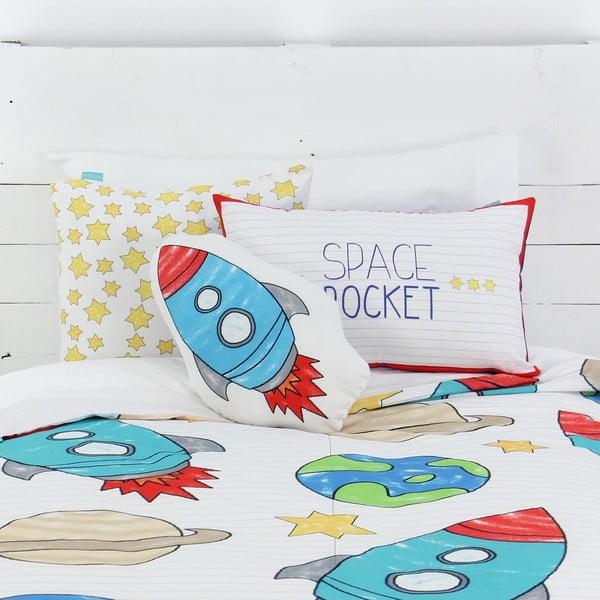 Dziecięca pościel bawełniana z poszewką na poduszkę Mr. FoxSpace Rocket, 140x200 cm