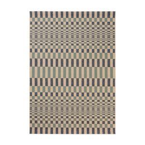 Niebieski dywan odpowiedni na zewnątrz Veranda Rhytml, 170x120 cm