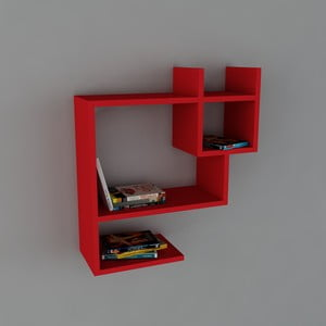 Półka Puss Book Red, 22x60x65,5 cm