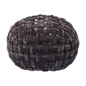 Czarny puf Kare Design Olivio