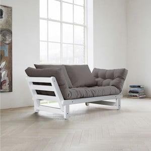 Sofa rozkładana Karup Beat White/Gris