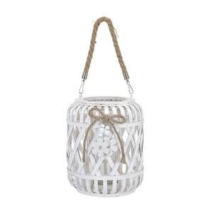 Lampion drewniany Honeymoon, biały