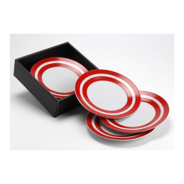 Zestaw talerzyków deserowych Red Stripe, 19 cm, 6 szt.