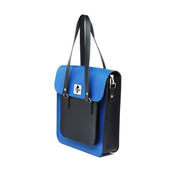 Skórzana torebka Rosemont Royal Blue/Black