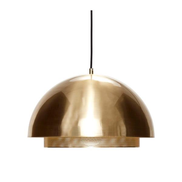 Lampa wisząca w złotym kolorze Hübsch Muno