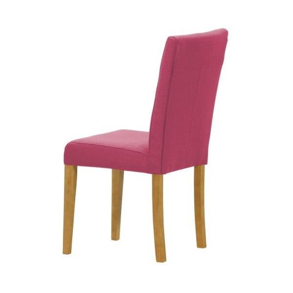 Komplet 2 krzeseł Monako Etna Pink, naturalne nóżki