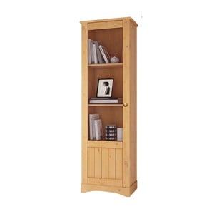 Brązowa wąska witryna z litego drewna sosnowego Støraa Yvonne, wys.180cm