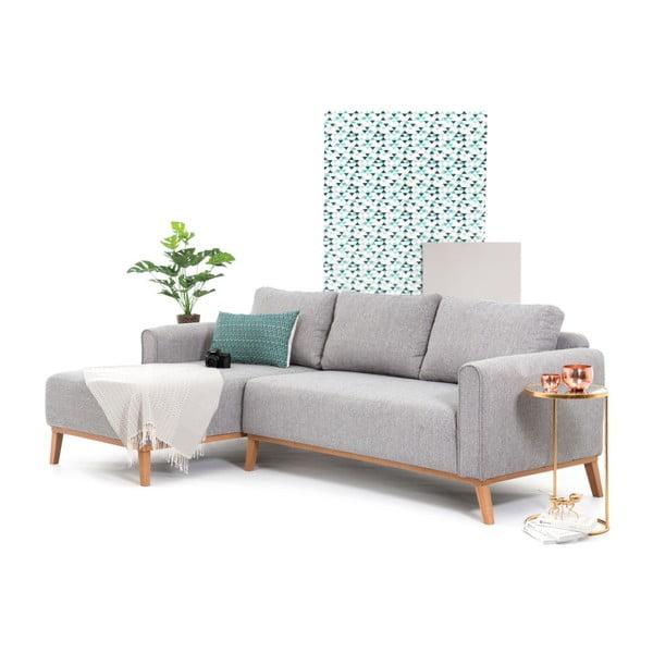 Jasnoszara lewostronna sofa narożna Vivonita Milton