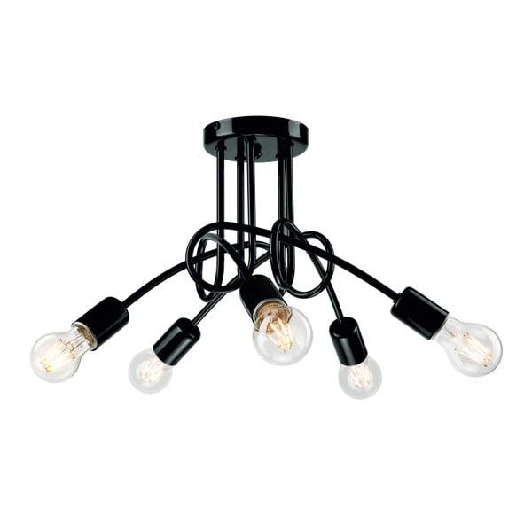 Czarna lampa wisząca na 5 żarówek Lamkur Camilla