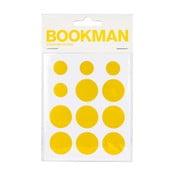 Zestaw 12 żółtych samoprzylepnych odblasków Bookman