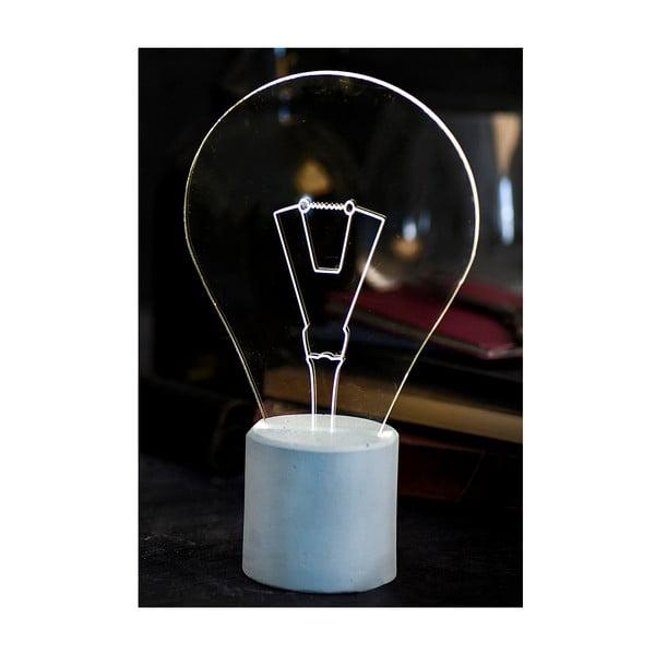 Lampka Bulb, niebieska podstawa