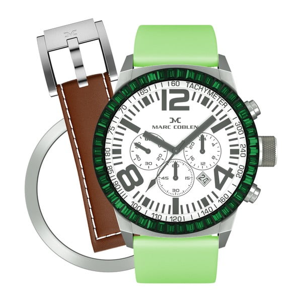 Zegarek damski Marc Coblen z dodatkowym paskiem i obręczą P73