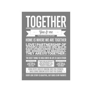Plakat autorski Grey Together, A3