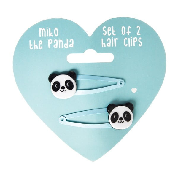 Komplet 2 spinek do włosów Rex London Miko The Panda