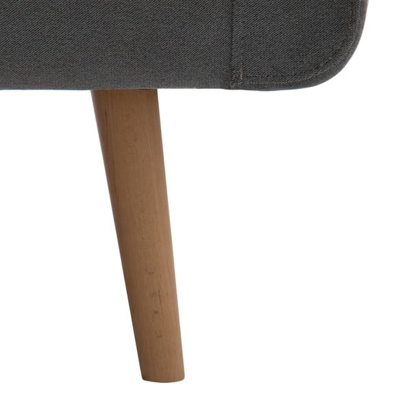 Narożnik lewostronny VIVONITA Sondero Light Grey, naturalne nogi
