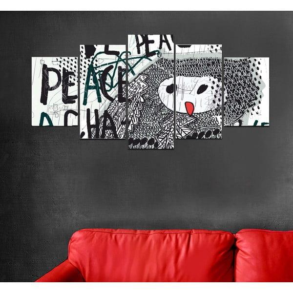 Wieloczęściowy obraz Black&White no. 81, 100x50 cm
