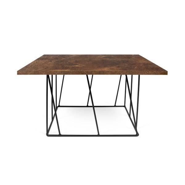 Brązowy stolik z czarnymi nogami TemaHome Helix, 75 cm