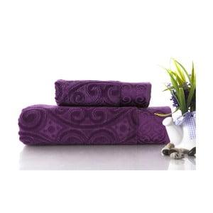 Zestaw 2 ręczników Hanzade Purple, 70x140 i 50x90 cm