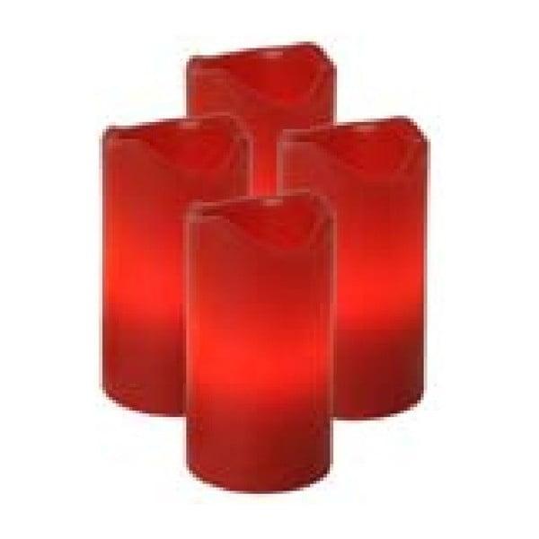 Zestaw 4 czerwonych świeczek LED z pilotem Best Season Red