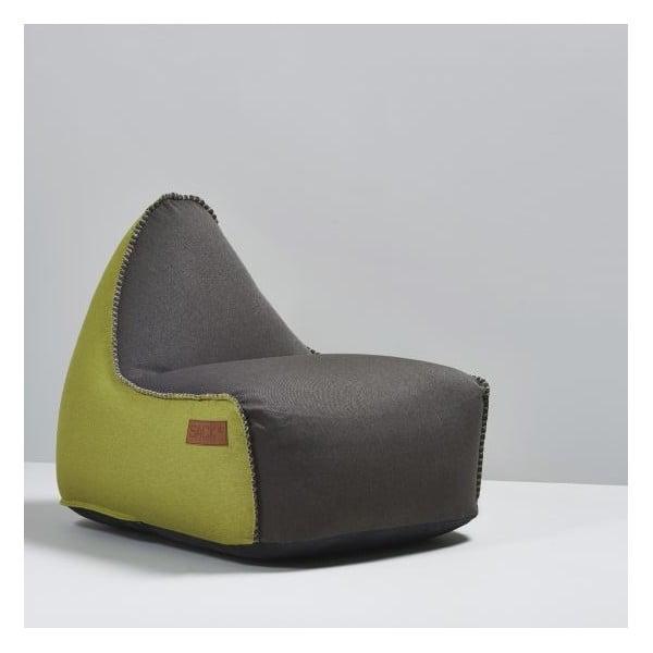 Worek do siedzenia RETROit Indoor Dark Brown/Lime
