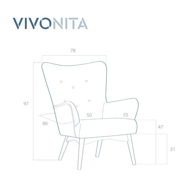 Koralowy fotel Vivonita Uma
