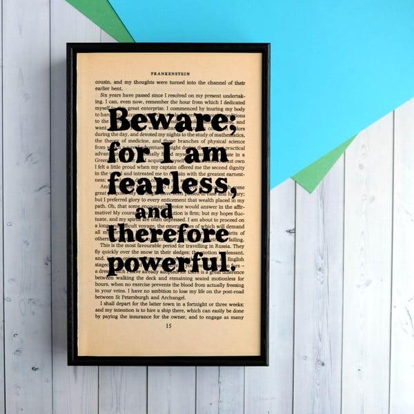 Plakat w   drewnianej ramie Frankenstein Fearless