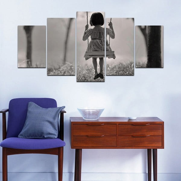 Wieloczęściowy obraz Black&White no. 16, 100x50 cm