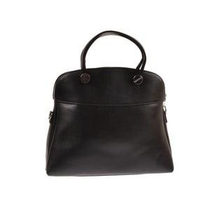 Skórzana torebka Emilio Masi Yutz, czarna